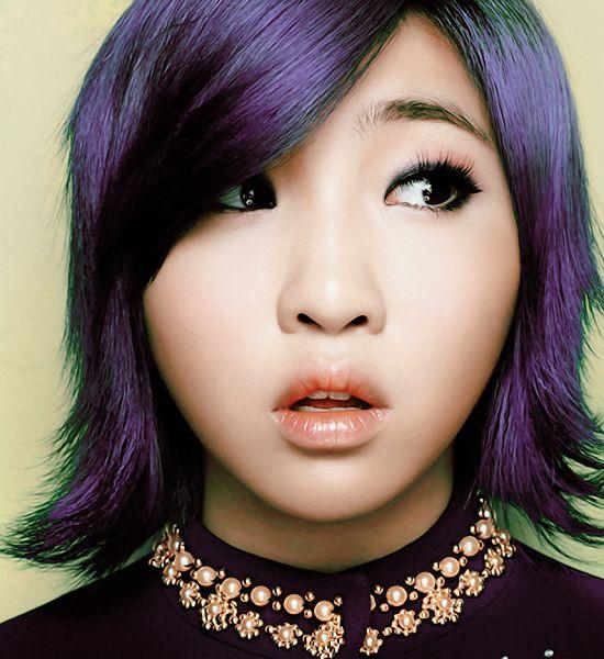 Tags: YG Entertainment, K-Pop, 2NE1, Minzy, Purple Hair