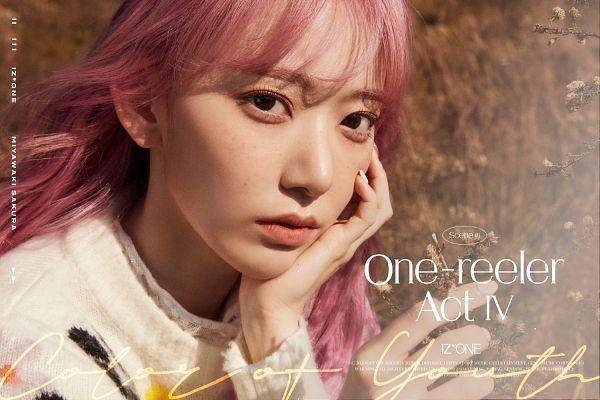 Tags: J-Pop, IZ*ONE, Miyawaki Sakura, Pink Hair