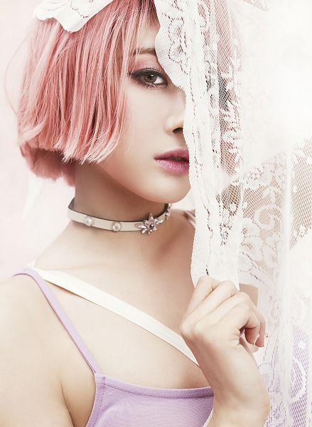 Tags: K-Pop, Nine Muses, Drama (Nine Muses), Moon Hyuna, Pink Hair, Android/iPhone Wallpaper