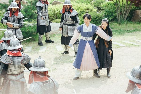 Tags: K-Pop, K-Drama, EXO, Byun Baekhyun, Z.Hera, Duo, Weapons, Traditional Clothes, Hair Buns, Sword, Korean Clothes, Hair Up