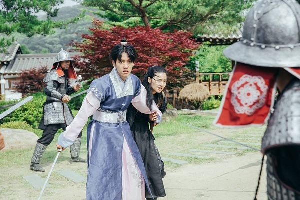 Tags: K-Pop, K-Drama, EXO, Byun Baekhyun, Z.Hera, Ponytail, Plant, Single Bun, Armor, Duo, Weapons, Traditional Clothes