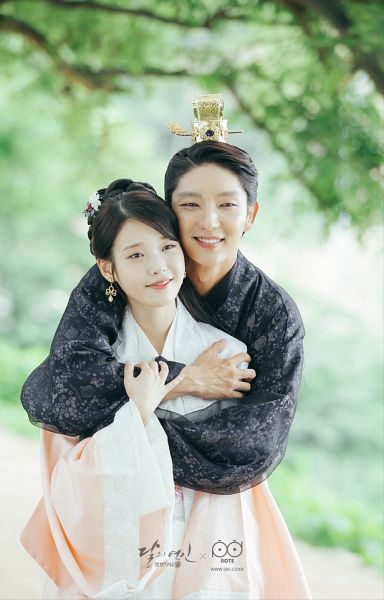Tags: K-Pop, K-Drama, Lee Jun-ki, IU, Couple, Hug, Traditional Clothes, Plant, Belt, Korean Clothes, Hair Ornament, Black Outfit