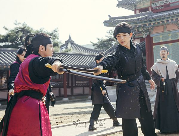 Tags: K-Drama, K-Pop, EXO, Kim Sung-kyun, Nam Joo-hyuk, Byun Baekhyun, Ji Soo, Traditional Clothes, Palace, Korean Clothes, Weapons, Sword