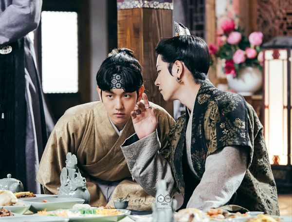 Tags: K-Drama, K-Pop, EXO, Byun Baekhyun, Hong Jong-hyun, Duo, Traditional Clothes, Korean Clothes, Ring, Hairband, Pink Flower, Flower