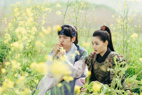 Tags: K-Pop, K-Drama, EXO, Byun Baekhyun, Z.Hera, Korean Clothes, Grass, Armor, Hair Up, Ponytail, Traditional Clothes, Moon Lovers: Scarlet Heart Ryeo