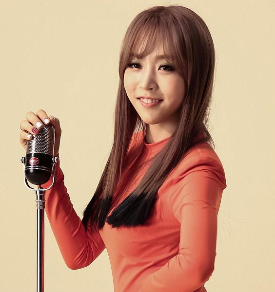 Tags: K-Pop, Mamamoo, Ahh Oop!, Moonbyul, Orange Background, Orange Shirt