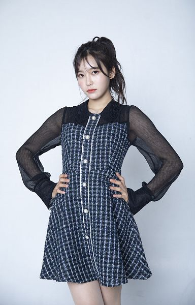 Tags: K-Pop, Busters, Myeong Hyeongseo, Ponytail, Blue Dress, Hand On Hip, Blue Outfit, Hair Up