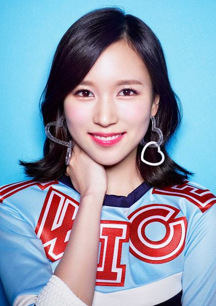 Tags: JYP Entertainment, J-Pop, K-Pop, Twice, Myoui Mina, Blue Background, Multi-colored Shirt, Blue Shirt, Close Up, #Twice, Android/iPhone Wallpaper