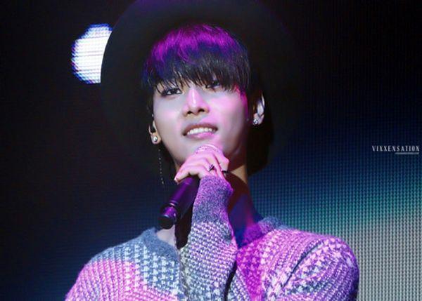 Tags: K-Pop, VIXX, N (singer), Sweater, Ring, Microphone, Hat, Black Headwear, Looking Ahead, Wallpaper, Vixxensation