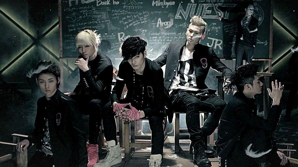 Tags: K-Pop, NU'EST, Hwang Min-hyun, Ren, Aron, Baekho, JR, Fingerless Gloves, Mask