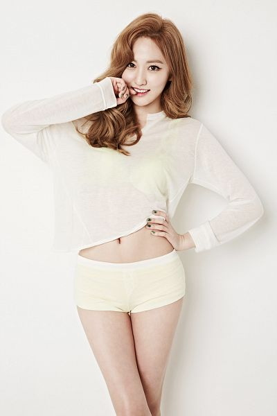Tags: K-Pop, BESTie, Na Haeryung, Midriff, Shorts, Navel, White Shorts, No Background, Android/iPhone Wallpaper