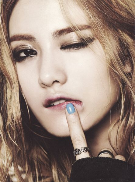 Tags: K-Pop, After School, First Love, Nana, Wink, Biting Lip, Make Up, Ring, Finger To Lips, Close Up, Nail Polish, Scan