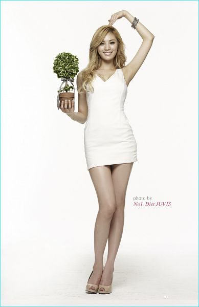Tags: K-Pop, After School, Nana, Hand On Head, White Background, White Dress, High Heels, Brown Footwear, White Outfit, Light Background, Android/iPhone Wallpaper