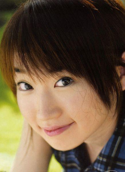 Tags: J-Pop, Nana Mizuki, Checkered, Close Up, Checkered Shirt, Hand In Hair, Blue Shirt, Android/iPhone Wallpaper