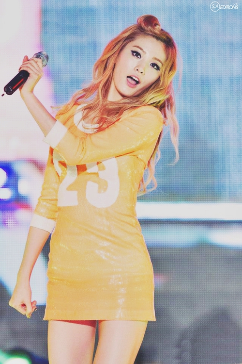 Tags: K-Pop, Orange Caramel, After School, Lipstick (Orange Caramel), Nana, Orange Dress, Orange Outfit, Live Performance