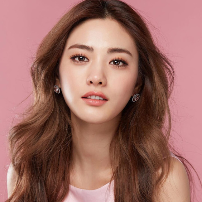 Tags: K-Pop, After School, Nana, Pink Shirt, Close Up, Pink Background