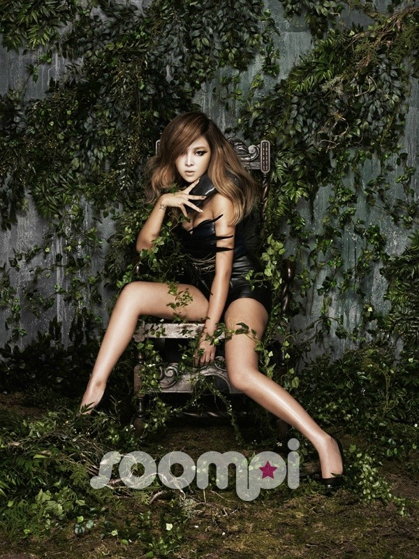 Tags: K-Pop, Brown Eyed Girls, Narsha, Shoes, Black Footwear, Chin In Hand, Shorts, Black Shorts, Cleavage, High Heels, Sitting On Chair, Spread Legs