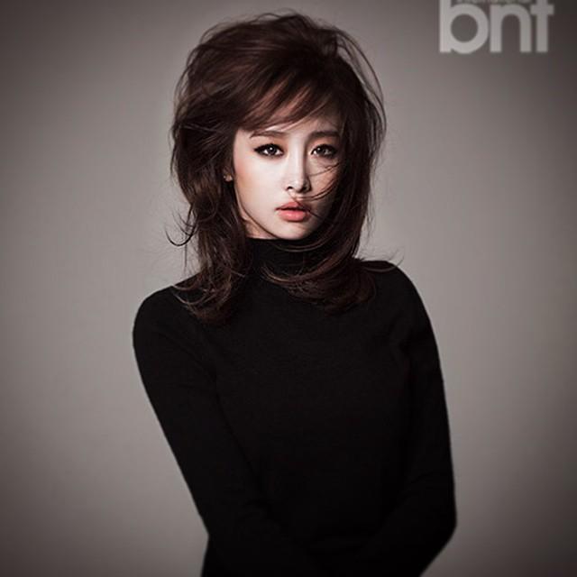 Tags: K-Pop, KARA, Nicole Jung, Text: Magazine Name, Gray Background, International Bnt, Magazine Scan