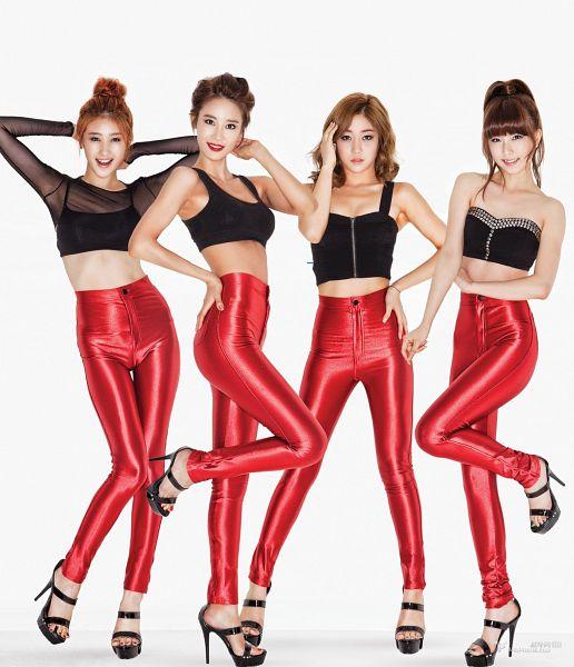 Tags: K-Pop, Nine Muses, Leesem, Ryu Sera, Moon Hyuna, Pyo Hyemi, Red Pants, Quartet, Four Girls