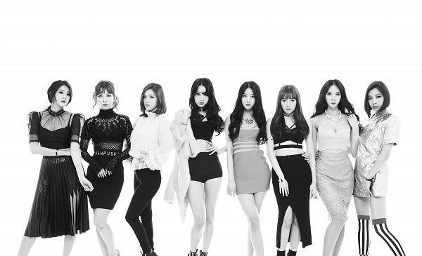 Tags: K-Pop, Nine Muses, Drama (Nine Muses), Gyeongree, Moon Hyuna, Lee Keumjo, Pyo Hyemi, Jo Sojin, Euaerin, Son Sungah, White Background, Full Group