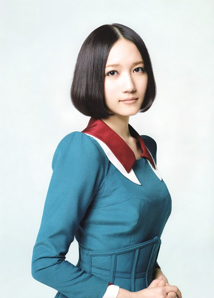 Tags: J-Pop, Perfume (Group), Nocchi, White Background, Medium Hair, Blue Outfit, Blue Dress, Light Background, Android/iPhone Wallpaper