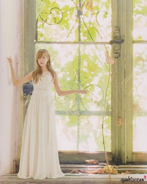 Tags: K-Pop, Apink, Oh Ha-young, Window, White Outfit, Plant, White Dress, Tree, Pink Doll