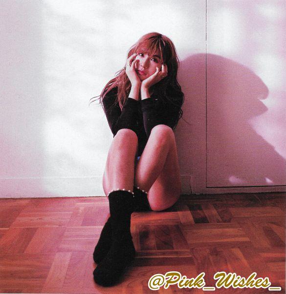 Tags: K-Pop, Apink, Oh Ha-young, Hand On Cheek, Black Shorts, Ring, Hand On Head, Wavy Hair, Sitting On Ground, Black Legwear, Shorts, Dear