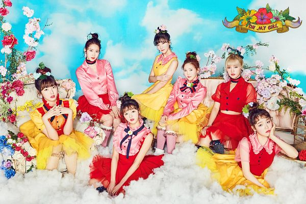 Tags: K-Pop, Oh My Girl, Yooa, Arin, Mimi, Binnie, Choi Hyojung, Kim Jiho, Hyun Seunghee, Red Dress, Yellow Skirt, Skirt