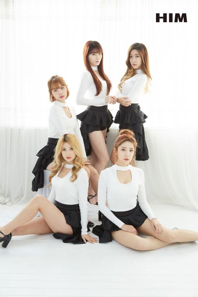 Tags: K-Pop, OhBliss, Kim Inhwa, Chunglyn, Kim Yeonjoo, Mei, Roa (OhBliss), Skirt, Black Shorts, Group, Serious, Five Girls