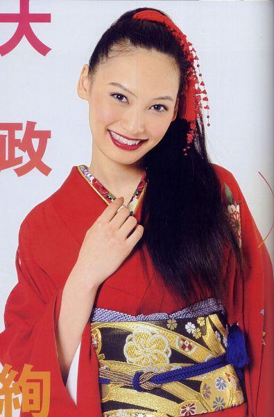 Tags: Oomasa Aya, Traditional Clothes, Red Lips, Kimono, Android/iPhone Wallpaper