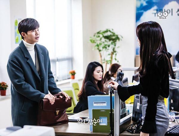 Tags: K-Drama, K-Pop, Dal Shabet, Song Jae-rim, Ah Young, Duo, Coat, Collar (Clothes), Skirt, Black Shirt, Gray Skirt, Bag