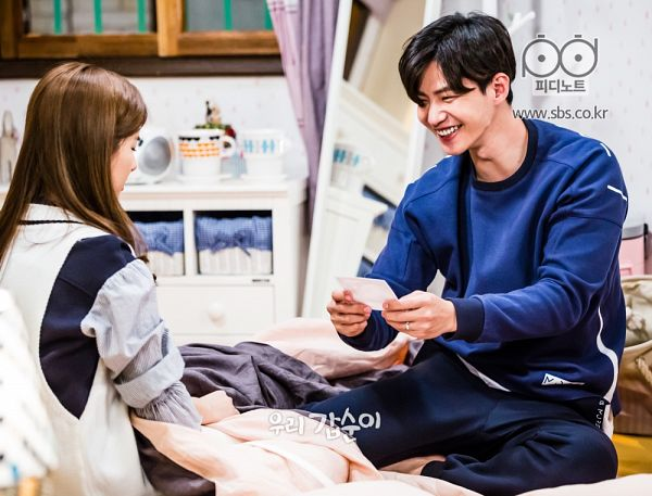 Tags: K-Drama, Kim So-eun, Song Jae-rim, Ring, Duo, Blue Shirt, Grin, Our Gap-soon