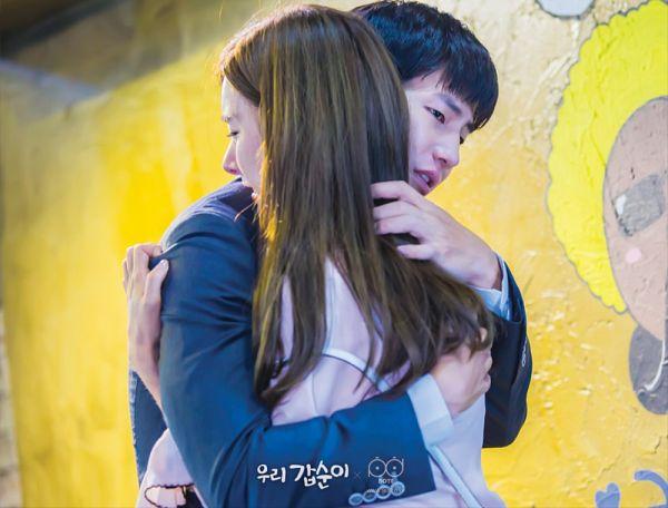 Tags: K-Drama, Kim So-eun, Song Jae-rim, Crying, Hug, Couple, Holding Close, Duo, Our Gap-soon