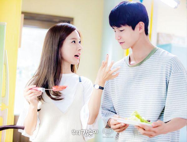 Tags: K-Drama, Song Jae-rim, Kim So-eun, Duo, Striped Shirt, Cooking, Couple, Striped, Our Gap-soon