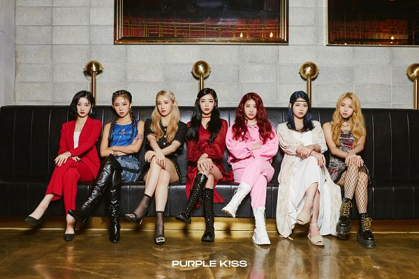Tags: K-Pop, PURPLE K!SS, Park Jieun, Na Goeun, Dosie, Chaein, Ireh, Swan, Yuki, Hand On Leg, Bare Shoulders, Medium Hair