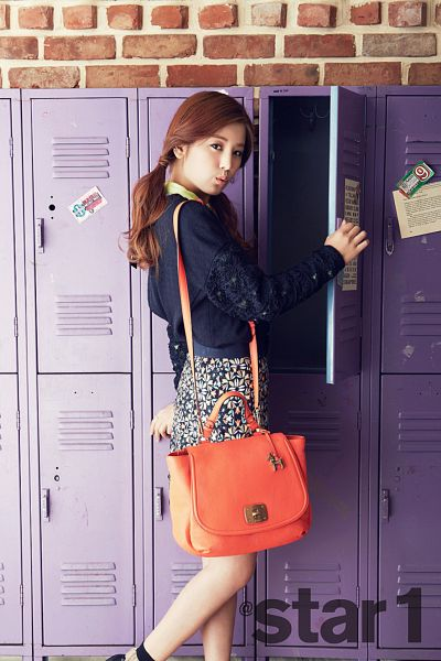 Tags: K-Pop, Apink, Park Cho-rong, Bag, Twin Tails, Android/iPhone Wallpaper, Star1, Magazine Scan