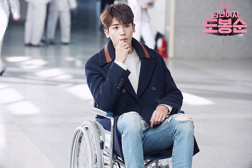 Tags: K-Pop, K-Drama, ZE:A, Park Hyungsik, Looking Ahead, Candy, Blue Outerwear, Blue Pants, Jeans, Wheelchair, Chair, Lollipop