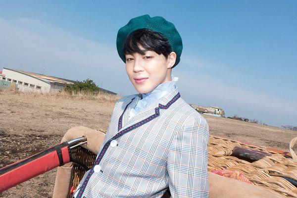 Tags: K-Pop, BTS, Park Jimin, Gray Jacket, Hat, Green Headwear, Black Eyes, Gray Outerwear, Basket, The Most Beautiful Moment in Life: Young Forever