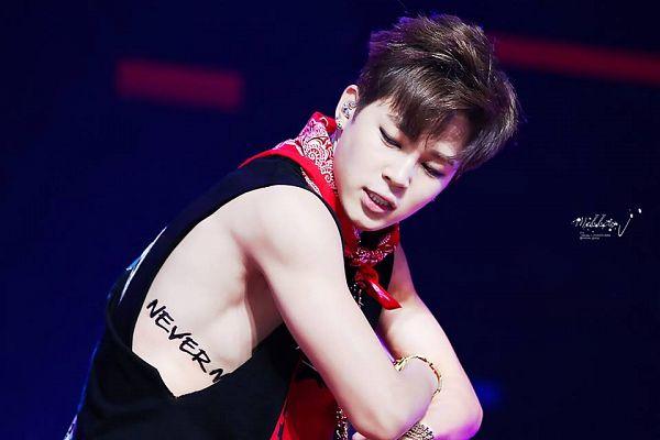 Tags: K-Pop, BTS, Park Jimin, Necklace, Make Up, Tank Top, Dancing, Black Eyes, Grin, Tattoo, Eyeliner, Headdress