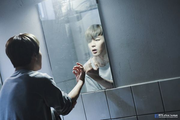 Tags: K-Pop, BTS, I NEED U, Park Jimin, Glass, Looking At Reflection, Mirror, Reflection, Facebook, The Most Beautiful Moment in Life pt.1