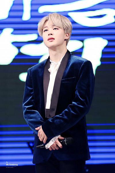Tags: K-Pop, BTS, Park Jimin, Blue Outerwear, Black Pants, Blue Jacket, Ring