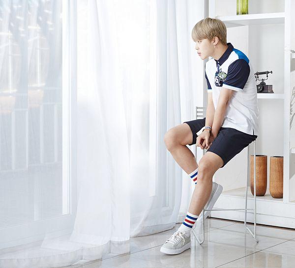 Tags: K-Pop, BTS, Park Jimin, Short Sleeves, Side View, Bookshelf, Sitting On Chair, Curtain, Window, School Uniform, Phone, Chair