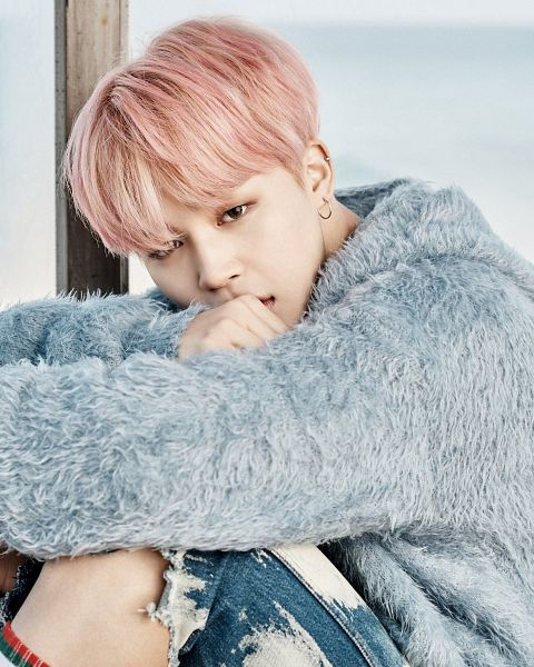 Tags: K-Pop, BTS, Park Jimin, Hood, Fur, Socks, Blue Outerwear, Shorts, Bus Stop, Blue Jacket, Pink Hair, Wallpaper