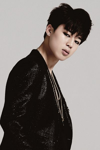 Tags: K-Pop, BTS, Park Jimin, Black Jacket, Necklace, Gray Background, Wake Up, Android/iPhone Wallpaper
