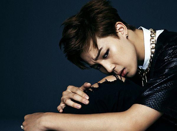 Tags: K-Pop, BTS, Park Jimin, Hand On Knee, Dark Background, Black Pants, Short Sleeves, Necklace, Dark & Wild
