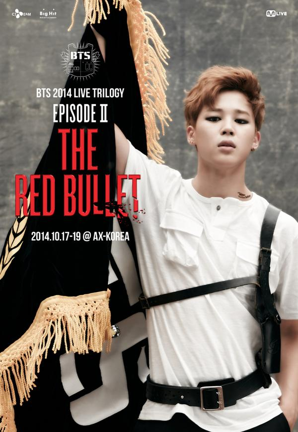 Tags: K-Pop, BTS, Park Jimin, Belt, Text: Calendar Date, Black Eyes, Red Hair, Serious, Tattoo, Eyeliner, English Text, Flag