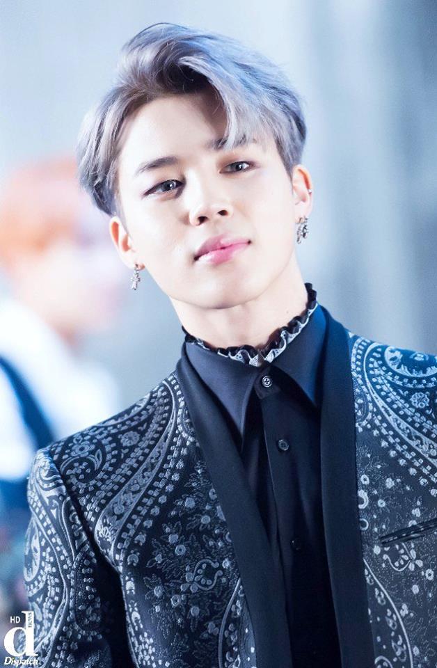 Tags: K-Pop, BTS, Park Jimin, Contact Lenses, Black Shirt, Gray Hair, Dispatch