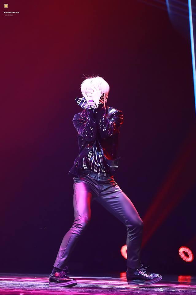 Tags: K-Pop, BTS, Park Jimin, Striped Shirt, Covering Eyes, Striped, Black Pants, Black Outerwear, Earbuds, Black Jacket, Dancing, Wide Sleeves