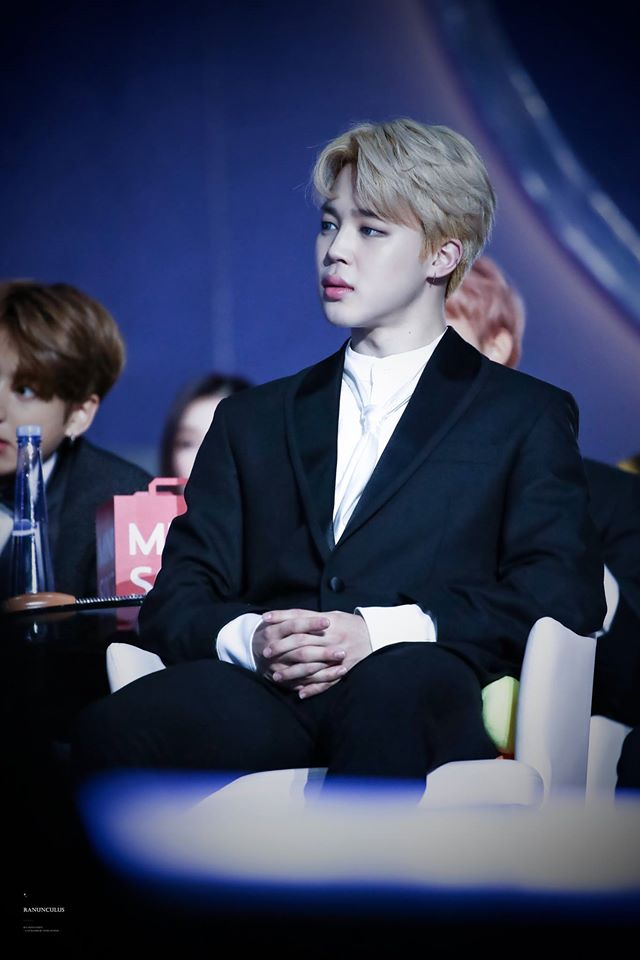 Tags: K-Pop, BTS, Park Jimin, Table, Serious, Water, Black Jacket, Sitting On Chair, Contact Lenses, Bottle, Chair, Black Outerwear