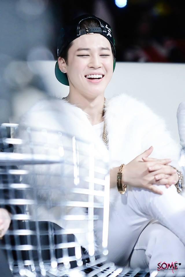 Tags: K-Pop, BTS, Park Jimin, Necklace, Eyeliner, Hat, White Pants, Laughing, Fur, Bracelet, Make Up, Fur Coat